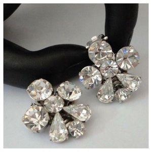 Vintage Signed Austria Swarovski Crystal Earrings